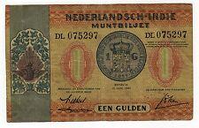 DUTCH EAST INDIES:  1 GULDEN  (1940)  (DL 075297)