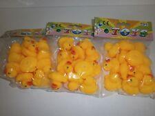 12 gelb/orange Badeenten 3 cm Badeente Mitgebsel Kindergeburtstag Give Away N 86
