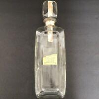 Vtg. 86 Proof Straight Bourbon Whiskey Liquor Bottle/Decanter/Clear/Empty.?Mfr