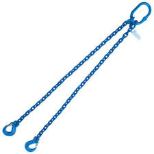 "5/16"" x 4' G100 Chain Lifting Sling with Sling Hook Double Leg"