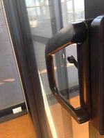 SLIDING DOOR | ALUMINIUM - DOUBLE GLAZED - 2110H X 1810W | white | Left lock