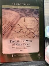 The Great Courses The Life and Work of Mark Twain Part One Only No Guidebook
