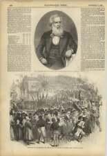 1858 Sir P FAIRBAIRN sindaco di Leeds Quimper IMPERATORE scena