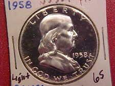 1958 FRANKLIN HALF DOLLAR - LIGHT CAMEO - PROOF - SEE PICS! - (N5337)
