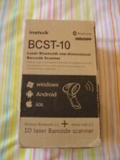 Indteck BCST-10 ID Laser Barcode Scanner Wireless Bluetooth (NEW Boxed)(Ref P)