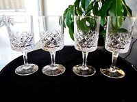 """Set of 4 Bohemian Crystal Sherry Glasses 5 1/2"""" Tall"""