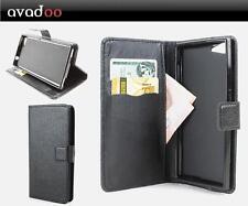 Avadoo ® Wiko Highway Star Flip Case Cover Custodia in Pelle Nero Guscio come