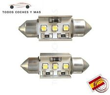 2 X BOMBILLAS LED FESTOON CANBUS C5W 36MM 3W SAMSUNG MATRICULA NO ERROR BLANCO