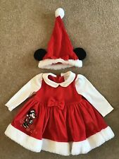 Disney Mini Mouse baby girl Christmas outfit - 9-12 months - dress and hat