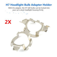 2x H7 LED Headlight Light Bulb Adapter Holder Retainer For Audi BMW Nissan Benz#