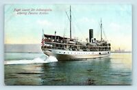 Tacoma, WA - EARLY 1900s VIEW OF STEAMER INDIANAPOLIS - UNUSED POSTCARD