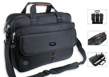 Mens Black Laptop Bag Business Briefcase Messenger Satchel Work Office Bag 2215