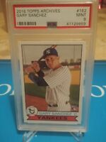 2016 Topps ARCHIVES #162 Gary Sanchez PSA 9 MINT  N.Y Yankees ROOKIE Card RARE🔥