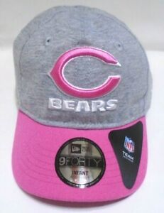 Chicago Bears New Era 9FORTY Infant Girls Sparkle 5Cap Hat Pink