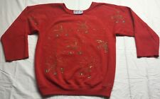 Just Me Design Paint Splatter Vintage Sweatshirt Red Artist