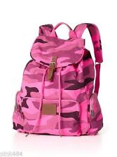 Victoria's Secret PINK Backpack - Pink Camo Print School Beach Backpack Bookbag