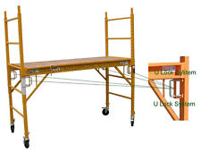 4 Multipurpose CBM Square Baker Style Scaffold Rolling Towers With Double U Lock