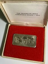 Franklin Mint Christmas Ingot 1975 - The Open Sleigh - 500 grains silver