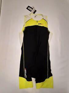 Garneau COMP Suit Triathlon - Bright Yellow - Size L - Lycra xtra life - Cycling