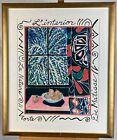 Vintage Henri Matisse Interior with Egyptian Curtain Still Life Poster Framed
