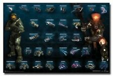 XBOX HALO VIDEO GAME WEAPONS VEHICLES POSTER NEW 34x22 FREE SHIP