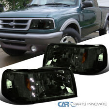 For 93-97 Ford Ranger 2in1 Smoke LED DRL Headlights+Corner Turn Signal Lamps