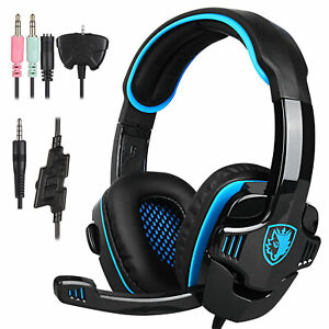 SADES SA-708GT Gaming Headset With Microphone for PS4 PC Laptop XBOX J4S7