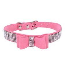 Pet Dog Collar Cat Puppy Strap Buckle Rhinestone PU Leather Adjustable