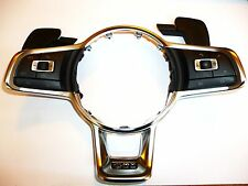 VW MK7 GTI Steering Wheel Trim Chrome With All Switches Oem New 14-16