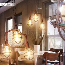 Lámpara colgante retro marrón rojizo salón comedor cocina pasillo enterada