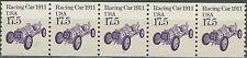 Racing Car 1911 Transportation Coil MNH PNC5 Strip of 5 Plate #1 Scott 2262