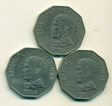 3 DIFFERENT 2 PISO COINS from the PHILIPPINES (1983, 1984 & 1985)