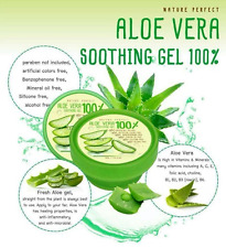 50ml ALOE VERA 100% NATURE PERFECT Soothing Gel Paraben Free Moisturizer Skin