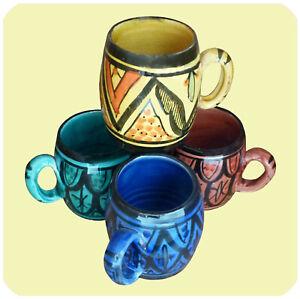 Ceramic Mug Cup Moroccan Painting Handmade Large