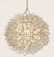 NEW Pottery Barn Capiz Shell Flower Petal Pendant Chandelier