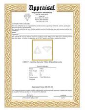 2.02 CT. Pair of Matching Genuine Trillion Shape Diamonds