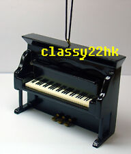 DOLLHOUSE MINI WOODEN BLACK UPFRIGHT PIANO MUSICAL INSTRUMENT ORNAMENT(4x2.75in)