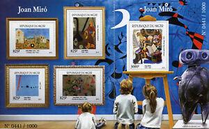 Niger 2015 MNH Joan Miro 4v M/S + 1v S/S Art Paintings Stamps