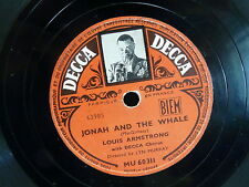 LOUIS ARMSTRONG Jonah and the whale / shadrack DECCA MU60311 78 tours