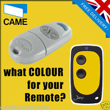 CAME GATE REMOTE CONTROL KEY FOB - TOP 432NA - UK SELLER - YELLOW