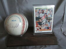 CALIFORNIA ANGELS DAVE WINFIELD SIGNED BASEBALL  AND   1990 UD CARD & STAND