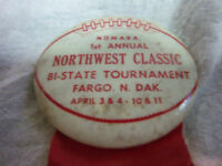 NDMABA 1st nothwest Bi State tournament Fargo ND basketball tourney player pin