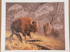 """GREG BEECHAM BUFFALO Print """"TRAIL OF THE FATHERS"""" Limited Edition # 8 of 750"""
