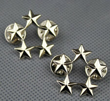 WWII US ARMY OFFICER 5 STAR GENERAL RANK BADGES PIN US FIVE STARS BADGE-L811
