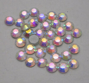 1440pc Clear AB Crystal 4mm Flat Back Rhinestones silver-plated bottom glue ss16