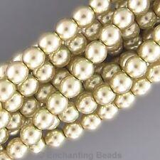 Czech 12mm Glass Beads Pearls Olivine Green C8058 Round