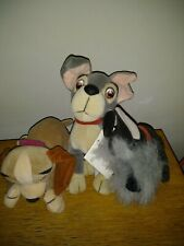 DISNEY STORE EXCLUSIVE LADY AND THE TRAMP LOT BEAN BAG PLUSH TOYS