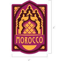 Morocco Travel Weatherproof Sticker - Marrakesh, Casablanca