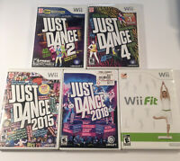 Just Dance 2, 3 and 2015 - 3 Game Lot CIB (Nintendo Wii)