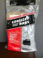 Sears 2046057 Style C Vacuum Canister Bags 15 Bags Free Shipping